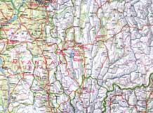 to Jpeg 139K Map of Myanmar and Thai border