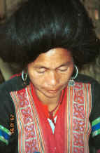 to Jpeg 30K Green Hmong woman in a village in Lai Chau province, northern Vietnam 9510f30.jpg